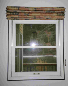 Insulated Roman Shades Raised