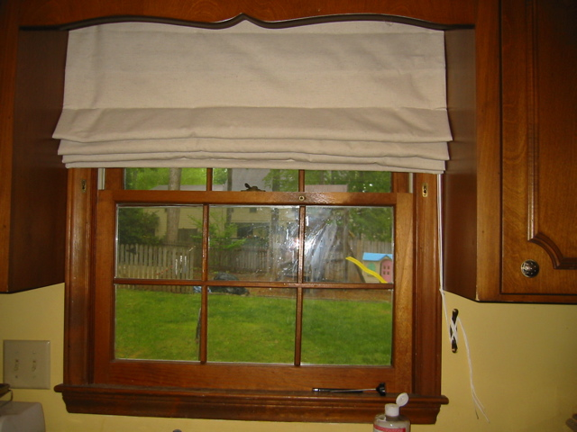 Insulated Curtains-Warm Window Roman Shade With Decorative Wood ...