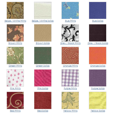 Cozy Curtains fabrics in 2000+ colors and designs